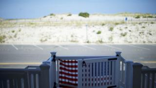пляж в Нью-Джерси
