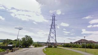 Electricity tower on Essich Road in Inverness