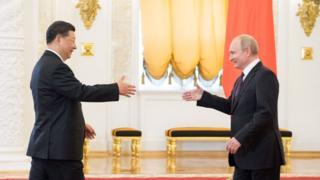 習近平訪問莫斯科,他被說成普京總統最重要的外國盟友之一。