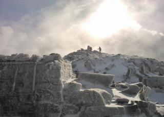 Snowdonia trig point