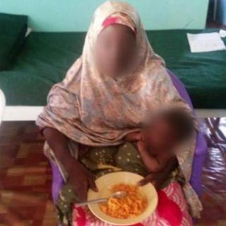 Chibok girl and baby