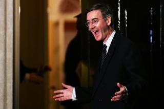 Jacob Rees-Mogg arrives at Downing Street
