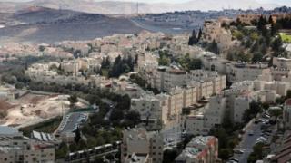 Toma aérea de Jerusalén Oriental