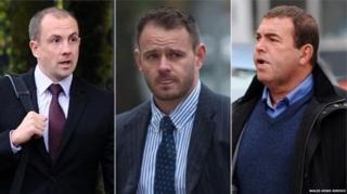 y Ditectif Sarjant Stephen Phillips a'r Ditectif Gwnstabliaid Christopher Evans a Michael Stokes