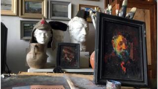 Автопортрет художника Ивана Ковтонюка в его мастерской