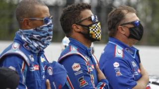 Bubba Wallace: Nascar driver's defiant tweet over Trump's 'hate'