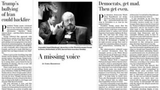 Blank column published by the Washington Post
