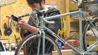 Shand Cycles worker