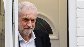 File image of Jeremy Corbyn leaving his home on 8 April 2019