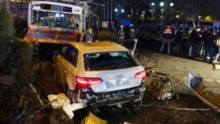 Последствия одного из взрывов в Анкаре, март 2016