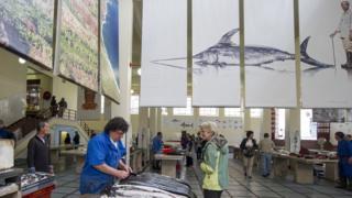 Рыбный рынок в Португалии