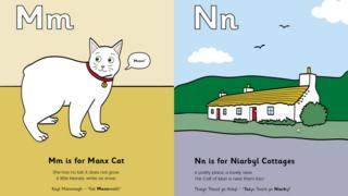 M is for Manx Cat! illustrations