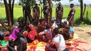 যেসব রোহিঙ্গা বাংলাদেশে ঢুকেছেন তাদের বেশিরভাগই নারী ও শিশু