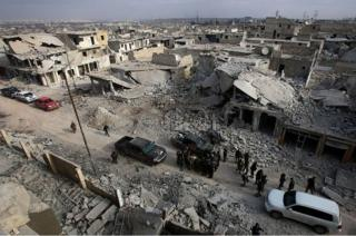 Halep'te enkaz