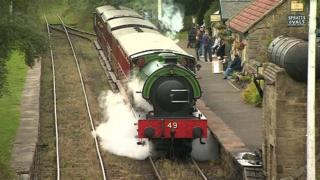 Restored steam loco