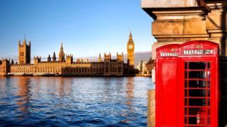 Вид на британский парламент