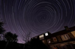 in_pictures Star trail over Highams Park, London