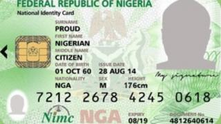 National Identity Card na important identification document for Nigeria