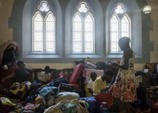 in_pictures Foreign nationals seeking refugee inside the Methodist Church in Cape Town, South Africa - Friday 15 November 2019