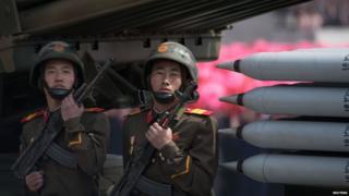North Korean missiles