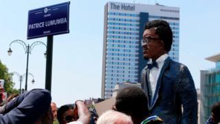 Le square Lumumba a été inauguré samedi à Bruxelles à 11H00 GMT.