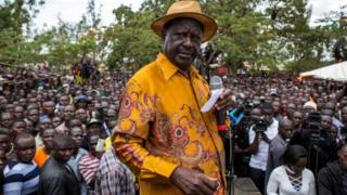 Raila Odinga don call for mass protests on Thursday.