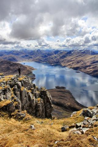 View from Beinn Sgritheall looking along Loch Hourn
