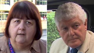 Debbie Wilcox and Byron Davies