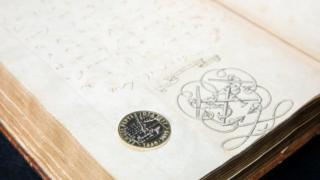 Samuel Pepys coin and diary