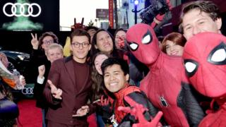Tom Holland at the world premiere of Spider-Man: Far From Home in Hollywood