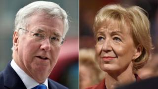 Sir Michael Fallon and Andrea Leadsom
