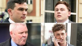 Clockwise from top left: Joshua Parsons, William Simpson, Jordan Munday and Richard Barklie
