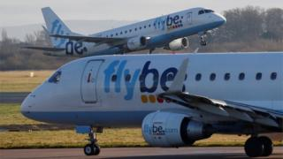 Two Flybe Embraer aircraft