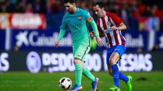 Lionel Messi, le maître à jouer du FC Barcelone est meilleur butteur du championnat espagnol avec 16 réalisations en même temps que son coéquipier Luis Suarez