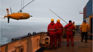 Boaty being recovered after its mission