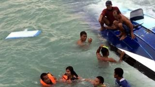 People being pulled from the sea