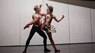 Giuliano Contadini and Hannah Bateman at the photo shoot