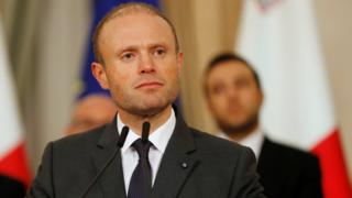 Maltese Prime Minister Joseph Muscat addresses a press conference after an urgent Cabinet meeting at the Auberge de Castille in Valletta, Malta November 29, 2019