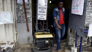 Man dey near generator