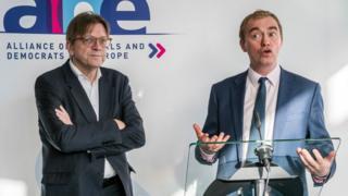 Tim Farron and Guy Verhofstadt