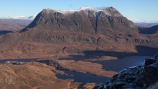A view of Cul Mor from Stac Pollaidh.