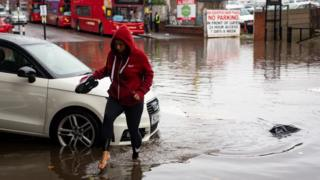 Flooding in Alum Rock, Birmingham