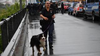 спасатель с собакой