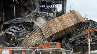 The collapsed Didcot Power Station