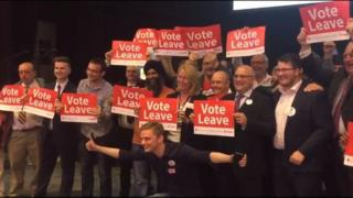 Vote leave campaigners in Birmingham