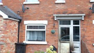 Scene of petrol bomb attack in east Belfast