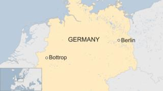 A BBC map showing Bottrop in Germany