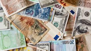 """Банкноты разных стран мира - промо теста """"Проверь свой английский"""""""