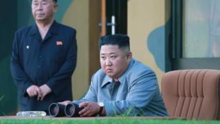 Kim Jong-un oversees an earlier weapons test