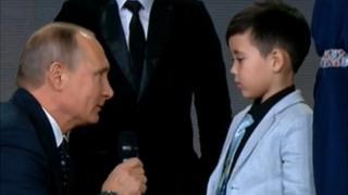 Президент Росії задав двом хлопчикам запитання із географії